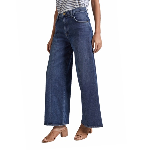 Current/Elliott Denim - Current/Elliot Wide Leg Crop Reese Denim Jean